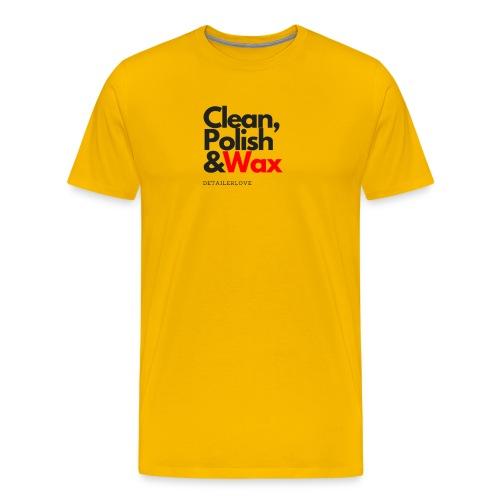 Clean,polish en wax - Mannen Premium T-shirt
