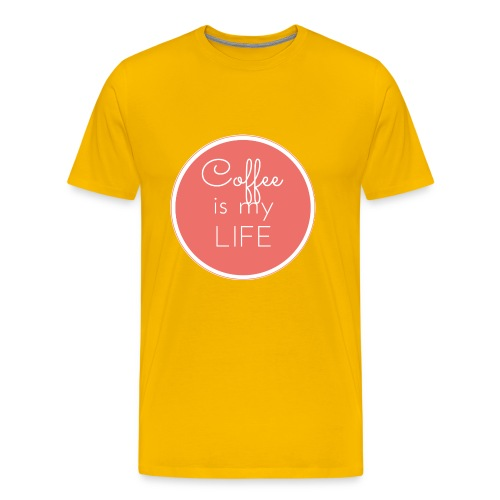 Coffee is my life - Camiseta premium hombre