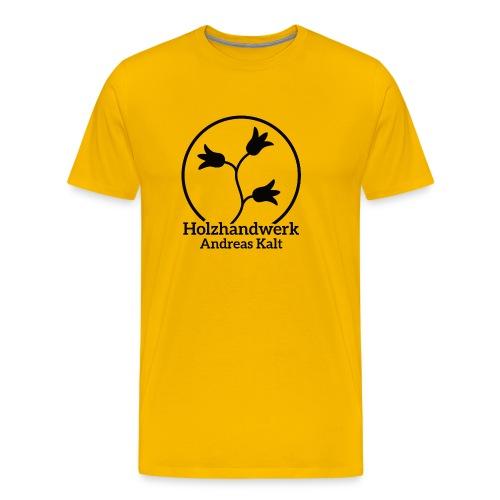 Black Holzhandwerk Logo - Men's Premium T-Shirt