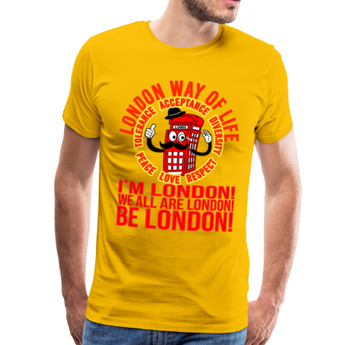 Londi London Mascot Design No 10 - Men's Premium T-Shirt