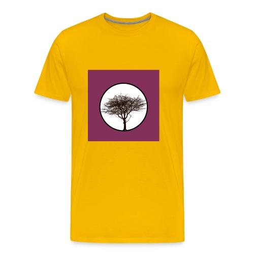 Baum in Kreis - Männer Premium T-Shirt