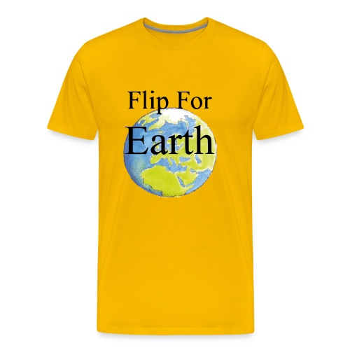 Flip For Earth T-shirt - Premium-T-shirt herr