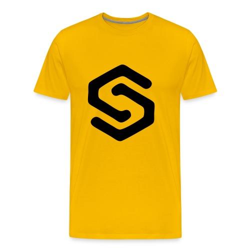 Simsonszene Sachsen S-LOGO schwarz - Männer Premium T-Shirt