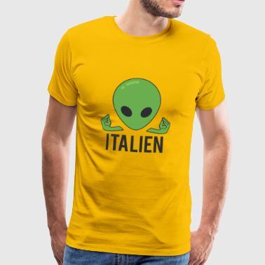 Italienska Italien Alien - Premium-T-shirt herr