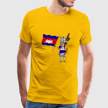 Cambodian zebra - Men's Premium T-Shirt