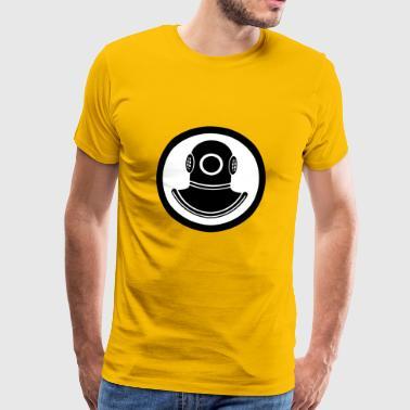 dykare - Premium-T-shirt herr