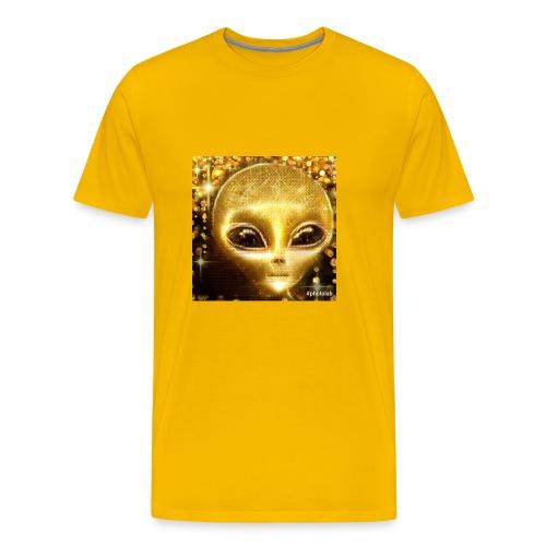Golden Alien the first born ever - Men's Premium T-Shirt