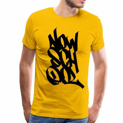 NowSchOol Marker Design (Black) - Men's Premium T-Shirt
