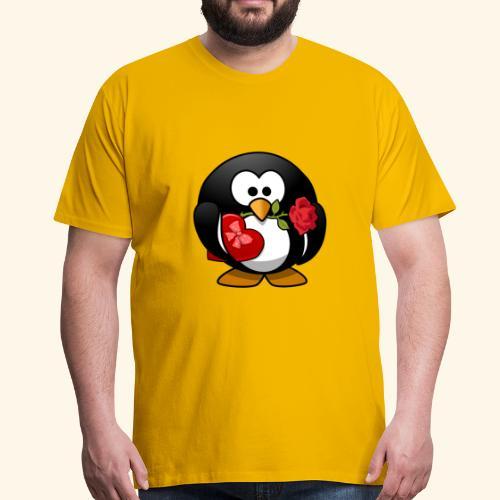Romantischer Pinguin - Männer Premium T-Shirt