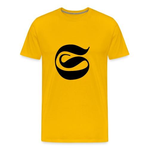 LOGO NEGRO STAINED - Camiseta premium hombre