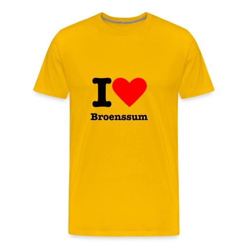 I love Broenssum - Mannen Premium T-shirt