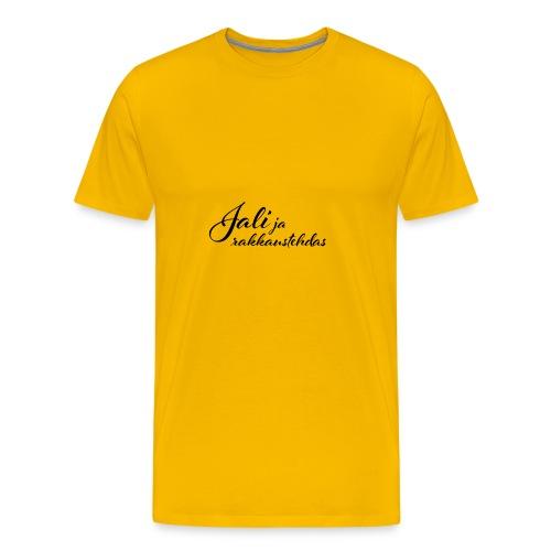 Jali ja rakkaustehdas LOGO - Miesten premium t-paita