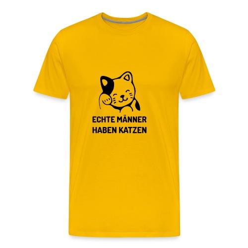Echte Männer haben Katzen - Männer Premium T-Shirt