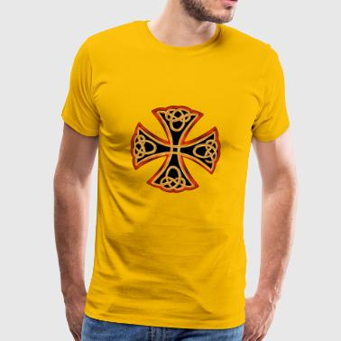 Antikes Kreuz - Männer Premium T-Shirt