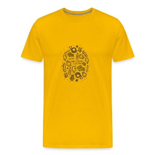 Knallfrosch Elektro - Doodle - Männer Premium T-Shirt