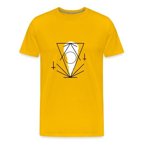 Geo-oddity_line_whiteout - Men's Premium T-Shirt