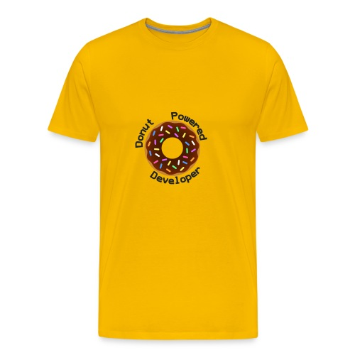 Donut Powered Developer - Camiseta premium hombre