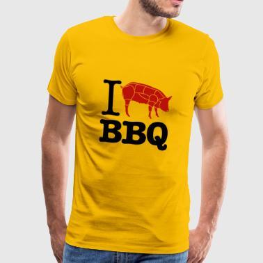 Mi piace BBQ - Maglietta Premium da uomo