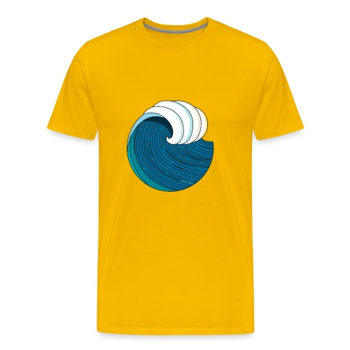 WAVES + SUN #3 - Männer Premium T-Shirt