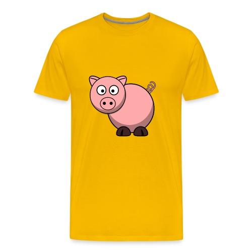 Schweinchen Schwein pig 0011 - Männer Premium T-Shirt