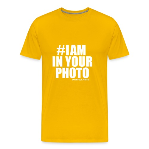 I AM IN YOUR PHOTO T-shirt Women - Mannen Premium T-shirt