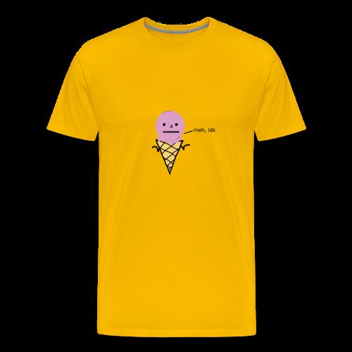 meh, idk ice cream version - Premium-T-shirt herr