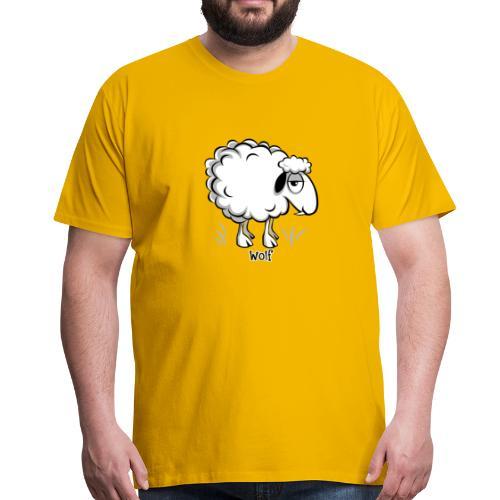 10-47 WOLF SHEEP- SUSI LAMMAS TUOTTEET - Miesten premium t-paita