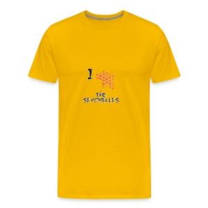 I Love The Seychelles - Men's Premium T-Shirt