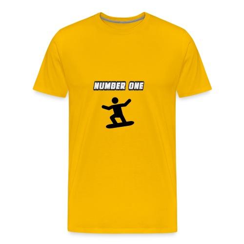 Number One Snowboarder - Men's Premium T-Shirt