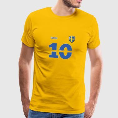 Ruotsi Jersey retro jersey 2018 Style - Miesten premium t-paita