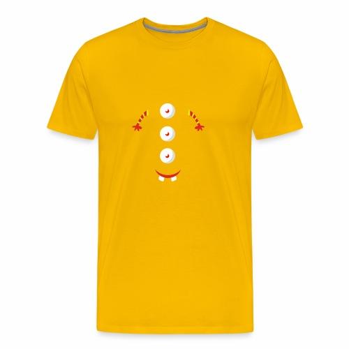 3 eyed button design - Men's Premium T-Shirt
