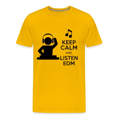 keep calm and listen edm - Men's Premium T-Shirt