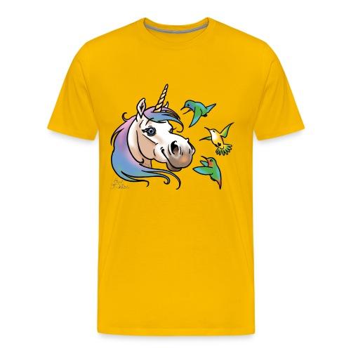 Einhorn und Kolibris - T-shirt Premium Homme