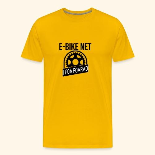 E-Bike Net - Ich Fahre Fahrrad - Auf Bayrisch - Männer Premium T-Shirt