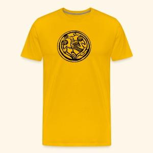 Vogel in boom - Mannen Premium T-shirt
