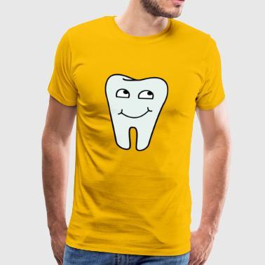Dental Practice Logo tann - Premium T-skjorte for menn