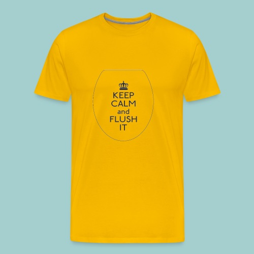 FLUSH Keep Calm - Herre premium T-shirt