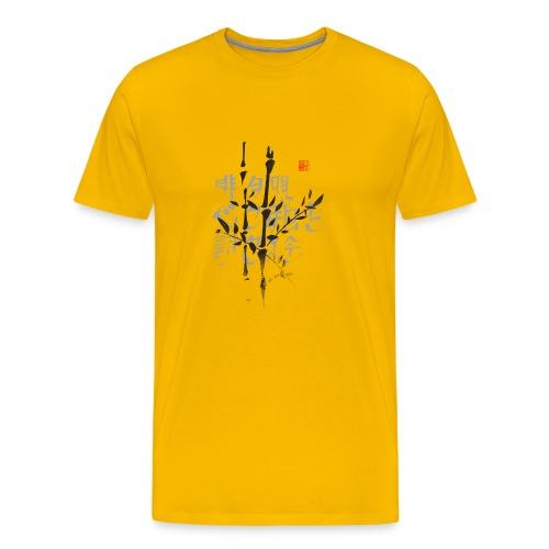 Haiku bambú - Camiseta premium hombre