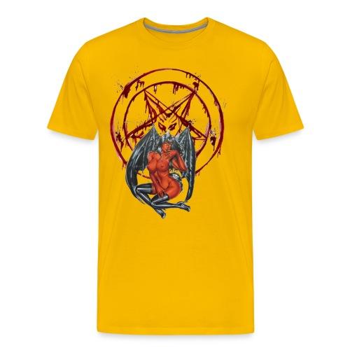 Blut Pentagramm mit Sexy Dämon - Männer Premium T-Shirt