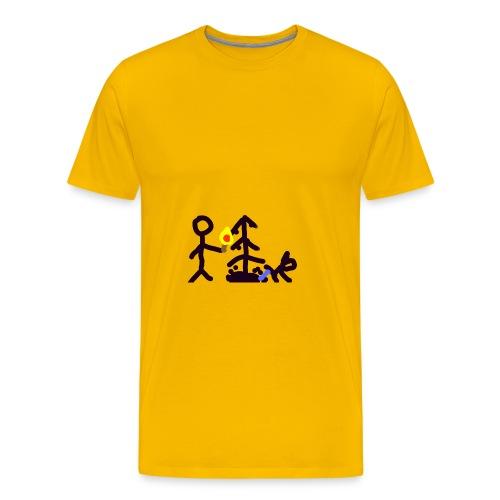Light Christmas tree - Männer Premium T-Shirt