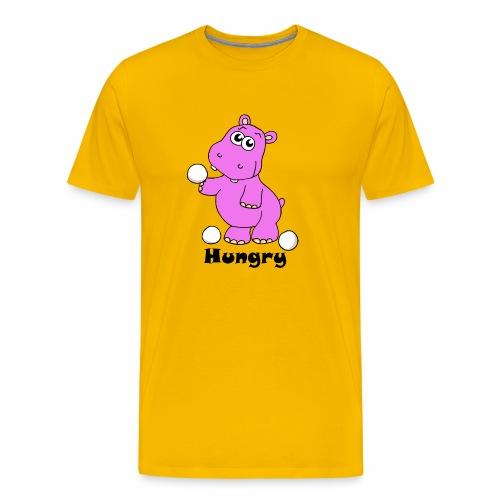 Hungry Hippo - Men's Premium T-Shirt