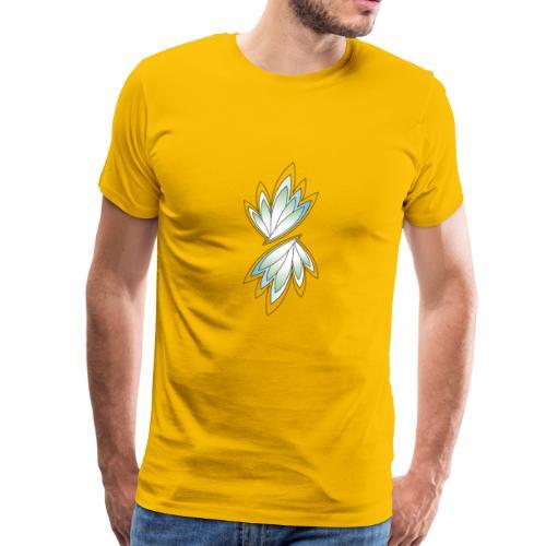 grüne und blaue Blätter - Männer Premium T-Shirt