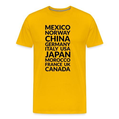 World Showcase countries (dark) - Men's Premium T-Shirt
