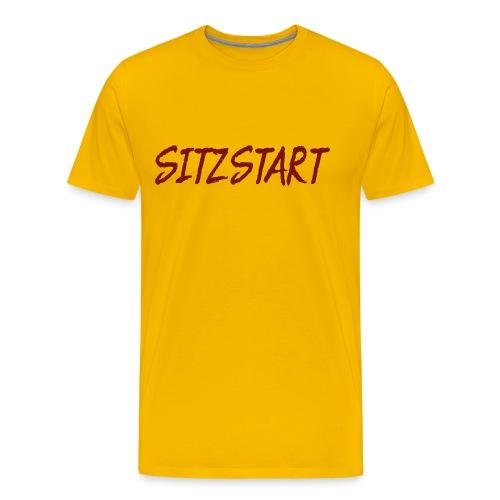 Sitzstart Label - Männer Premium T-Shirt