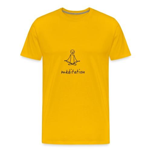 Méditation - T-shirt Premium Homme