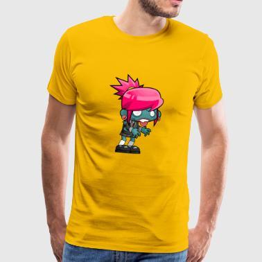 zombie Teen - Premium T-skjorte for menn