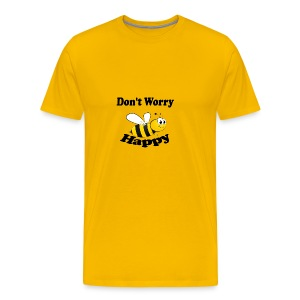 Don t worry Bee Happy -izzidruk- - Mannen Premium T-shirt