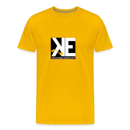 Keangelidesart Yellow Wave - Men's Premium T-Shirt