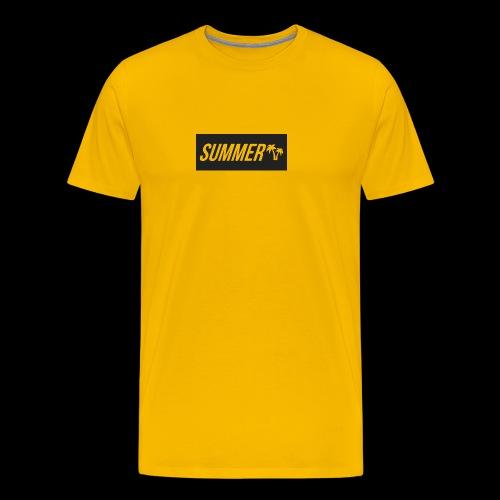 Summer Palm Logo - Premium T-skjorte for menn