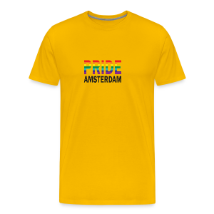 Pride Amsterdam in regenboog kleur en zwart - Mannen Premium T-shirt